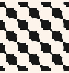 monochrome geometric seamless pattern with curved vector image