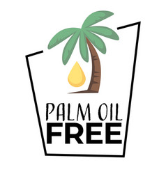 No palm oil isolated icon harmful ingredient free vector