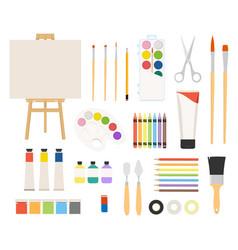 painter art tools paint arts tool kit vector image