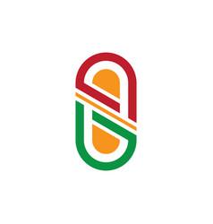 pil medicine capsule business logo vector image