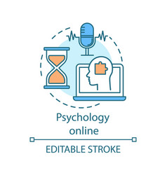 Psychology online concept icon psychotherapeutic vector