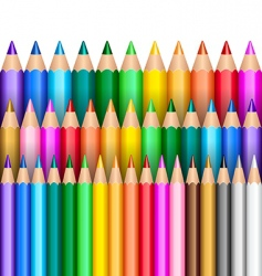 rainbow pencils vector image