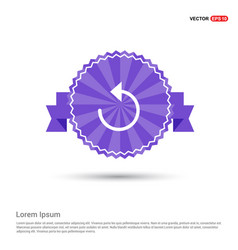 reload icon - purple ribbon banner vector image