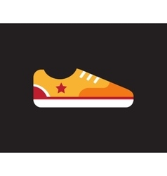 Retro vintage gumshoes icon isolated on dark vector