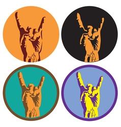Rock culture symbol vector