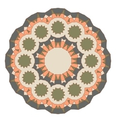 Round decorative pattern Lace circle design vector image