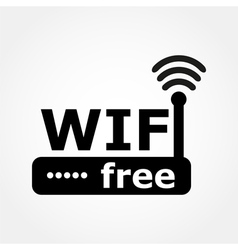 Router and wi fi icon vector