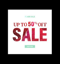 Sale poster with glitter vector