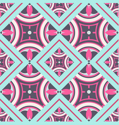 seamless pattern in oriental style geometrical vector image