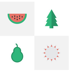 Set of simple horticulture icons elements sunny vector