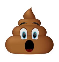Shit icon surprise faces poop emoticon vector