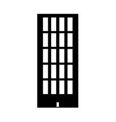 sky tower building black color icon vector image