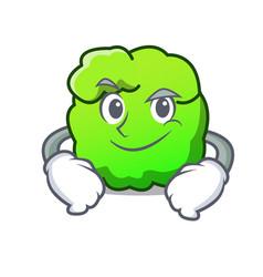 Smirking shrub character cartoon style vector