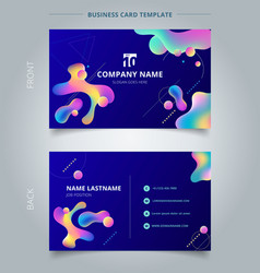 Template business card and name card colorful vector