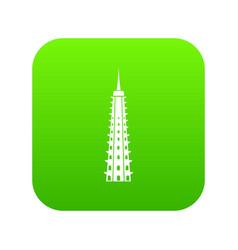 temple icon digital green vector image
