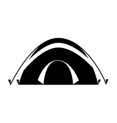 tent camping on white background vector image