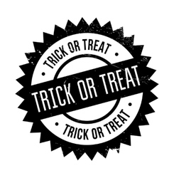 Trick or treat stamp vector