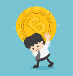 Uneasy employee bitcoin bankruptcy market vector