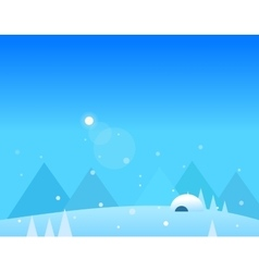 Wallpaper Landscape of Winter Mountains Igloo and vector