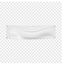 white banner mockup realistic style vector image