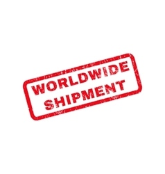Worldwide Shipment Rubber Stamp vector