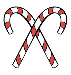 christmas candy icon cartoon vector image