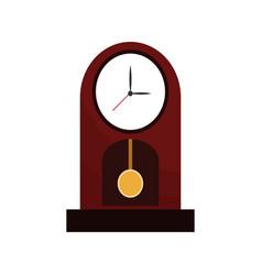 clock time watch pendulum vector image