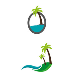 islands vector image