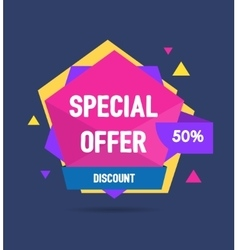 Sale Banner Geometric vector image