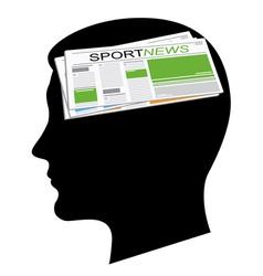 sport news vector image vector image