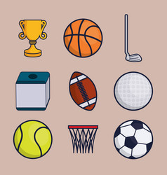 sports equipment design vector image