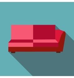 Big sofa icon flat style vector image vector image