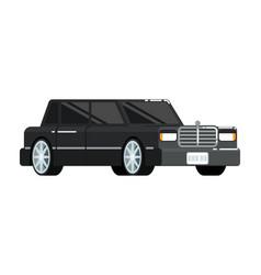 Black luxury limousine icon vector