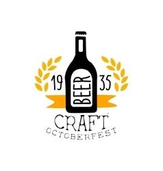 Craft Beer Oktoberfest Logo Design Template vector image