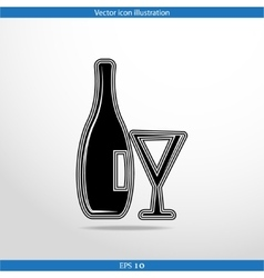 glass bottle web icon vector image