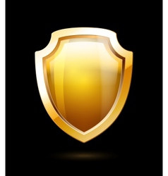 Gold Shield vector image vector image
