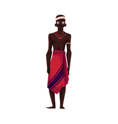 native aborigine from african tribe in loincloth vector image vector image