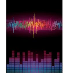 Rainbow Sound Waves vector image