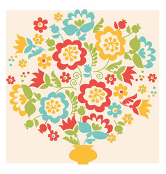 retro style flower summer bouquet in pastel color vector image vector image