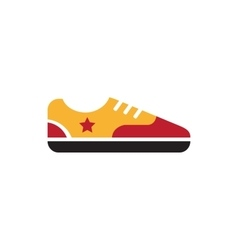 Retro vintage gumshoes icon isolated vector image