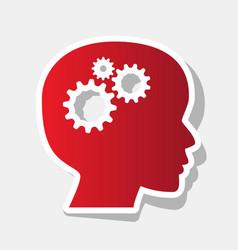 thinking head sign new year reddish icon vector image vector image