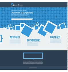 website Abstract blue brochure squares vector image vector image