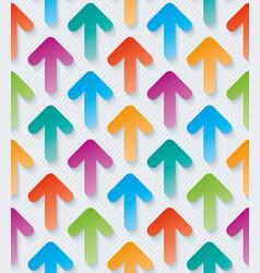 colorful arrow 3d wallpaper vector image vector image