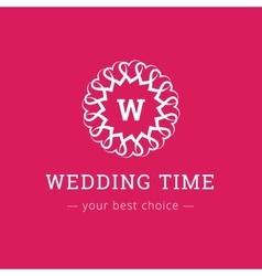 elegant simple monogram logo Wedding vector image