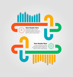 infographics elements bar chart vector image