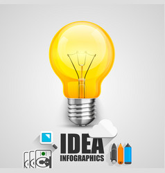 lamp in icons vector image vector image