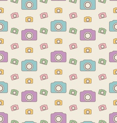 Seamless Hipster Background with Cameras Vintage vector image