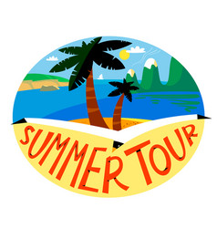 summer beach background tropical landscape with vector image