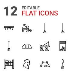 12 farming icons vector