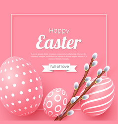 abstract easter pink background vector image
